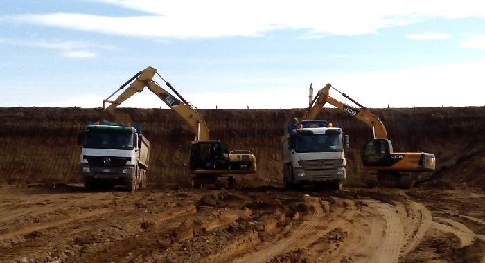 movimento terra con scavi di sbancamento